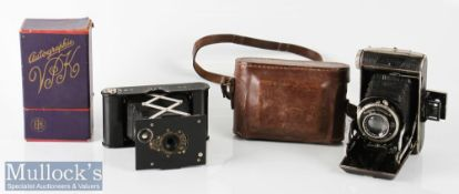 Kodak Autographic Ball Bearing Shutter folding camera No A-127 to reverse with original box together