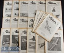 Quantity of 'The Aeroplane Spotter' Newspaper Magazines 1941-1948 includes a wide variety of issues,