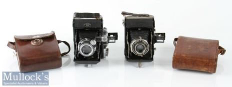 2x Zeiss Ikon Folding cameras including Novar 1:3,5 f=75mm, plus Zeiss Ikon Telma with Novar 1:4,5