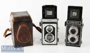 Zeiss Ikoflex TLR camera compur rapid Zeiss/Tessar 1:3,5 f=75mm in leather case plus Photina