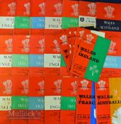 Wales Home Rugby Programmes 1955-68 (26): A great selection of Cardiff Arms Park issues over
