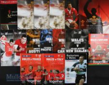 Wales Home Rugby Programmes 2004-06 & Autumn 2008 (16): Missing most Autumn Tests 2004 and England
