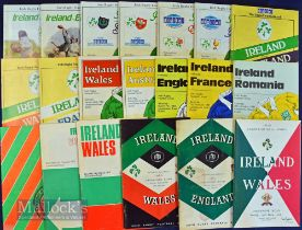 Ireland Home Rugby Programmes (20): Great selection of Lansdowne Road issues, six from the 50s,