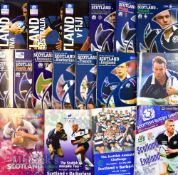Scotland Home Rugby Programmes 2000s (18): Selection of issues from Scotland games v England (