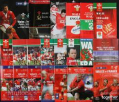 Wales Home Rugby Programmes 1991-2008 (21): 'Doublers' from previous six lots: Five/Six Nations,
