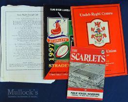 Welsh Interest Rugby Programmes etc (4): Carwyn James Memorial Match Llanelli v NZ, 48 page Souvenir