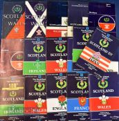 Scotland Home Rugby Programmes 1950s-1980s (17): Lovely selection of Murrayfield issues, six from