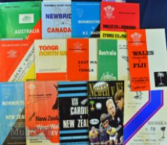 1970s to 1990s Tourists in Wales Rugby Programmes (14): Fiji at Wales (U-25, Cardiff) 1970,