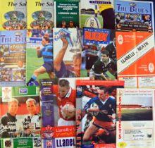 1994-2004 Club Rugby Programmes (14): Mixed English and Welsh club games, Northampton v Bristol &
