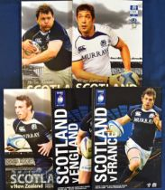Scotland Home Rugby Programmes 2010 (5): Fine large Murrayfield issues for the Six Nations clashes