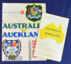 1958 & 64 Down Under Rugby Programmes (2): Waikato 1958 (Hamilton) and Auckland 1964 (Eden Park) v