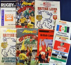 1980s British Lions etc Rugby Programmes (9): British Lions v The Rest (& Five Nations v Overseas)