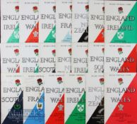 England Home Rugby Programmes 1958-1974 (20): Good selection of Twickenham issues over more tham