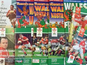 Wales Home Rugby Programmes 1995-97 (12): All here, USA, Canada, Fiji, Barbarians etc plus England