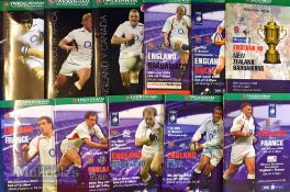 England Home Rugby Programmes 2003-2004 (10): All the Twickenham issues before and after that RWC