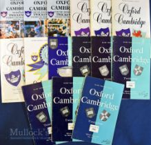 Varsity Oxford/Cambridge Rugby Programmes 1960s-1995 (15): Featuring many fine international players