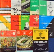 1980s Tourists mostly in Wales Rugby Programmes (13): NZ at Newport 1980, Cardiff & (well-worn)
