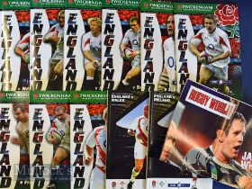 England Home Rugby Programmes 2006-2008 (11+): Autumn Tests 2006, Six Nations and the RWC warm ups