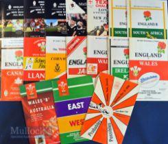 English & Welsh Rugby Programmes (17): England v Wales 1990/1992; v Ireland 1992; v Canada (Wembley)
