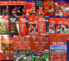 Wales Home Rugby Programmes 1999-2001 (18): 'Back Home', first game at Millennium and first win over
