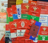 Cliff Jones' Collection of Rugby Programmes, Menus etc etc (30+): Reportedly from Major Cliff's
