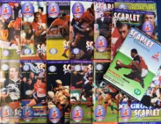 Scarlets Power Rugby programmes Vol 1 (14): Nos 1-14, 1997-8, signatures on No 3 v Pau: Craig &