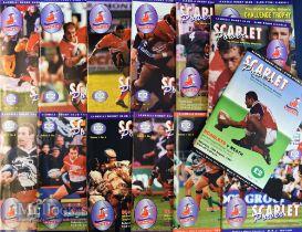 Scarlets Power Rugby programmes Vol 1 (14): Nos 1-14, 1997-8, signatures on No 3 v Pau: Craig &
