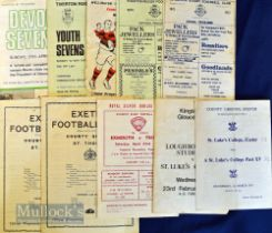 West Country Rugby Programmes 1970s (10): St Luke's Past v Present 1972 & v Loughborough at