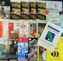 1990-93 Mixed UK Club Rugby Programmes (19): Pontypridd v Pontypool 1990, 1991(2), Llanelli 1991,
