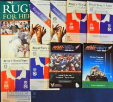 Army v Navy Rugby Programmes etc (9): The Twickenham issues for 1992-97 inclusive, 2005 & 2006. Plus