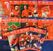 Wales Home Rugby Programmes 2002-03 (13): All at Cardiff except the first, v Romania at Wrexham