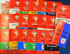 Wales Home Rugby Programmes 1980-89 (20): Many of the Cardiff clashes of the 80s, inc Overseas
