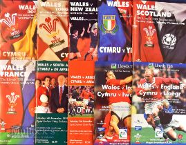 Wales Home Rugby Programmes 1997-99 inc Wembley (10): Those six 'Twin Towers' games in the Five