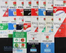 England Home Rugby Programmes 1976-1989 (19): Lovely range of issues, all Five Nations except NZ