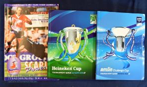 Rugby Media Guides etc (3): European Tourneys, Heineken Cup and Amlin Cup Media Guides 2011-2102;