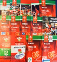 Wales Home Rugby Programmes 1991-94 (14): Most if not all the Welsh homes inc tourists and specials,