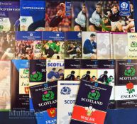 Scotland Home Rugby Programmes 1990s (27): Packed bundle inc a host of Five Nations & other