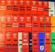 Wales Home Rugby Programmes 1970-79 (22): Almost all the homes from the Golden Seventies. The SA
