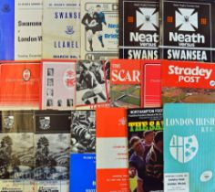 Club Rugby Programmes 1970s-80s (37): Good variety English & Welsh homes, local derbies, away