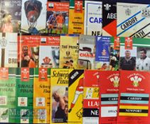 WRU Cup Finals (24) / Semis (6) Rugby Programmes (30): Finals from 1973 to 2009, missing are 1977,
