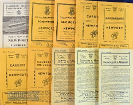 Newport Rugby Programmes 1954-1963 (10): Issues at home v Cardiff 1957-8 & 1958-9, Cambridge Univ. &
