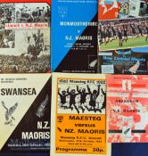 1982 NZ Maori Tour of Wales Rugby Programmes (6): The issues from the tourists' games at Aberavon (