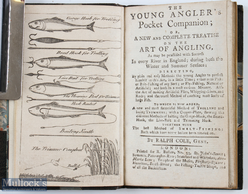 """Cole, Ralph – """"The Young Angler's Pocket Companion"""" or a new and complete treatise on the art of - Image 2 of 2"""