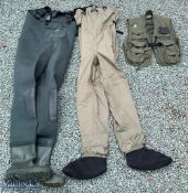 2 Pair of Fishing Waders one Ron Thompson Classic and the other Vision size XL and a Sasta fishing