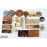 Hardy fishing accessories consisting of Hardy Crocodile mount lures in boxes plus The Halford