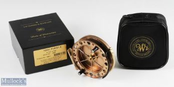 """J W Young & Sons Purist II 2041 4 ½"""" centrepin reel with twin handle, Bickerdyke line guide,"""