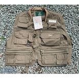 Orvis Super Tac-L-Pak Fly Fishing Vest in olive, size L, unused with tag