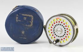 """Hardy Bros England St Aidan 3 ¾"""" alloy fly reel with u line guide, smooth alloy foot, rim tensioner,"""