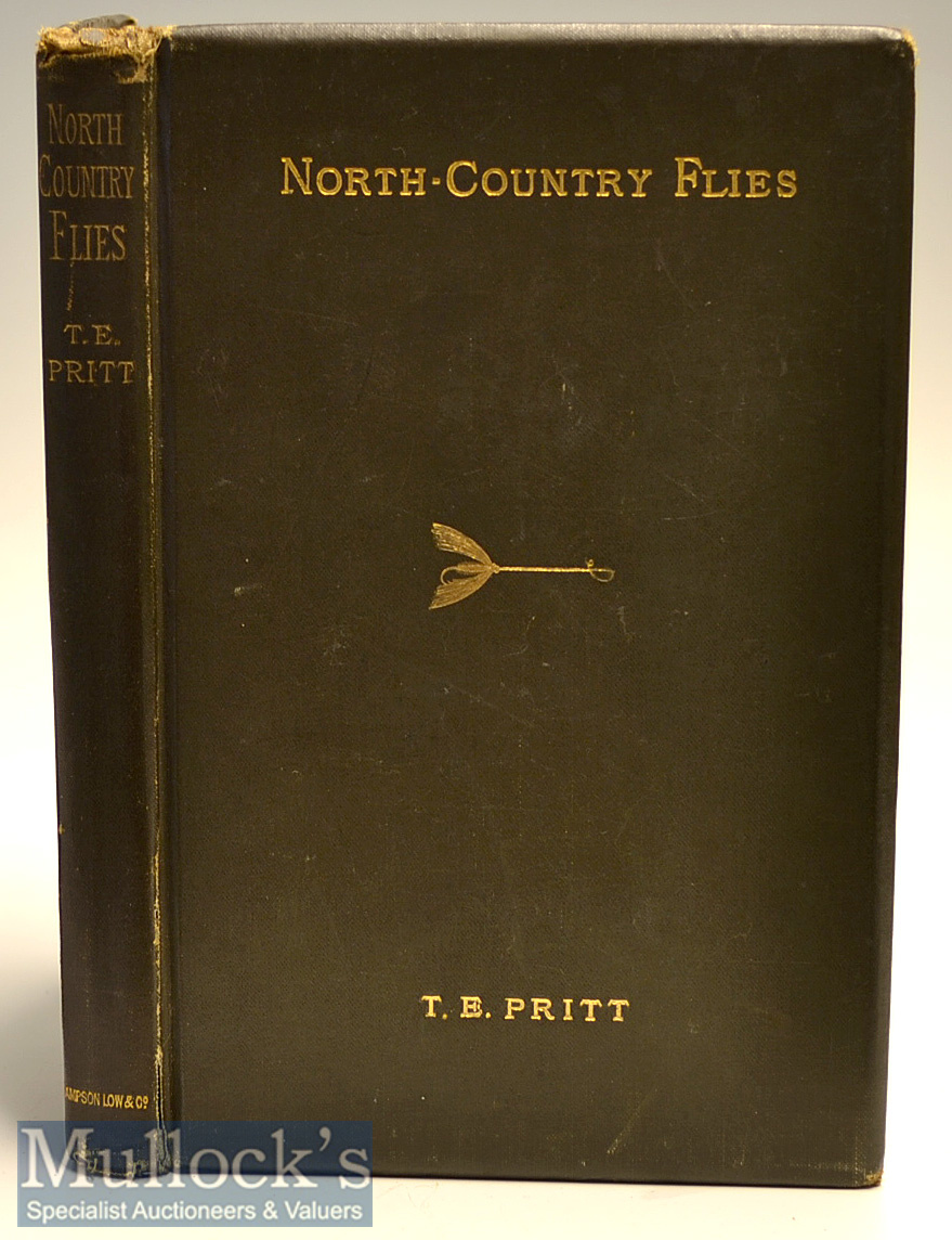 """Rare Late 19th c Book on Fishing Flies: Pritt, T E - """"North-Country Flies"""" 2nd ed 1886 publ'd"""