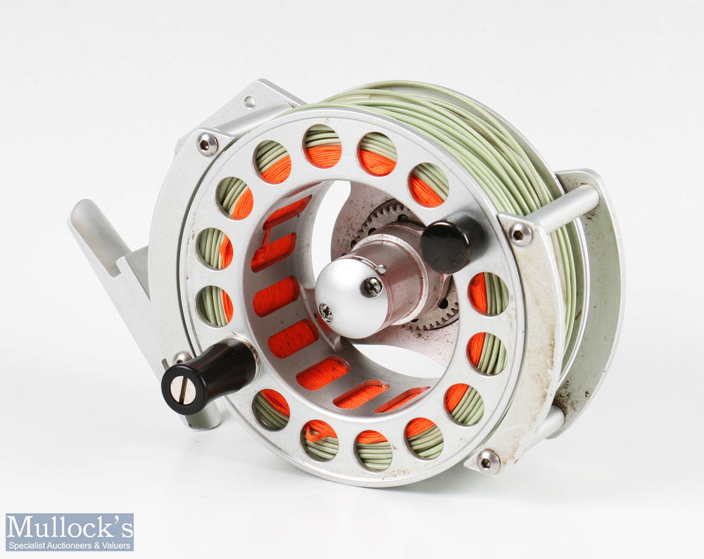Airflo Balance 7/9 large arbour fly reel in titanium finish, rear drag adjuster, counter weight, - Image 2 of 3